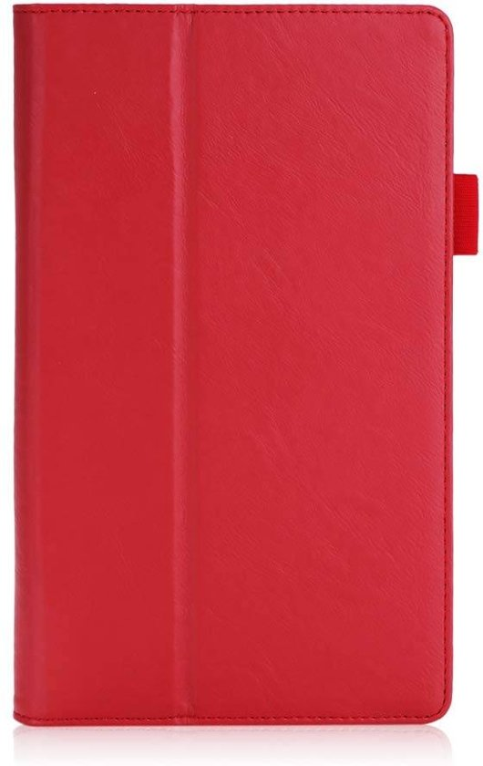 Lenovo tab 4 8 hoes - Hand Strap Book Case - Rood