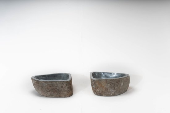 2 Natuurstenen waskommen   DEV-TwinSinks-039   39x30x16