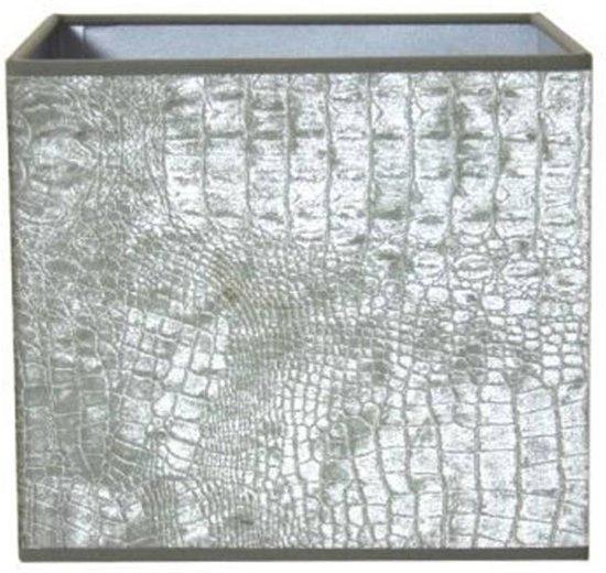 Light & Living CHELSEA Velours Vierkant - lampenkap - 20 cm - Zilver