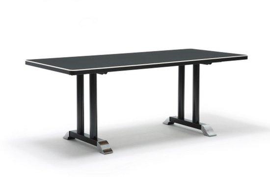 Bol.com gispen eettafel 7207 zwart ral 9011 linoleum desk top zwart