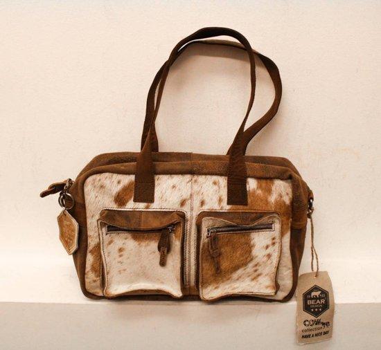 Tassen Koeienhuid : Bol bear design cow collectie schoudertas