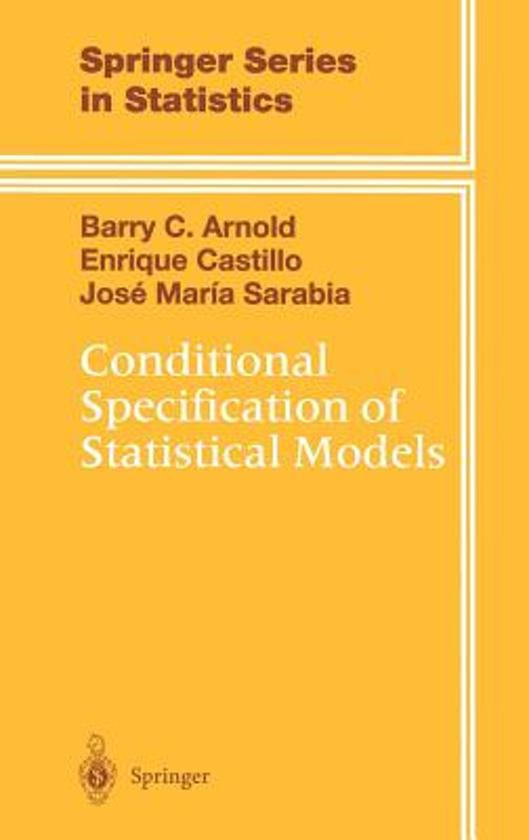 Conditional Specification of Statistical Models