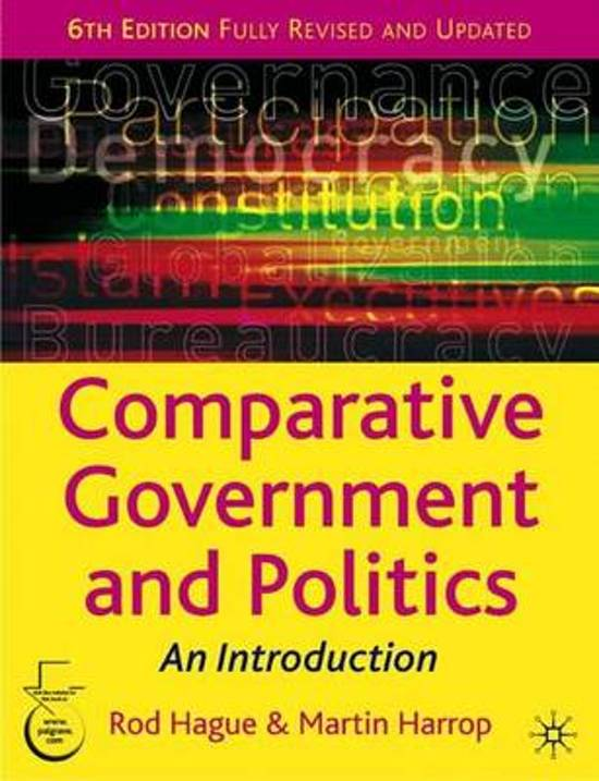 Boek cover Comparative Government and Politics van Rod Hague (Paperback)
