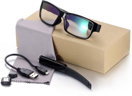 c59b8837e8865a Luxe Spionage bril met verborgen mini camera 16GB