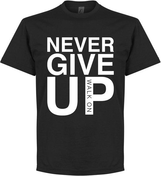 Never Give Up Liverpool T-shirt - Zwart - M