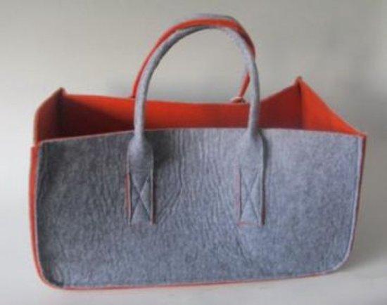 vilt tas grijs/oranje groot VDO Style