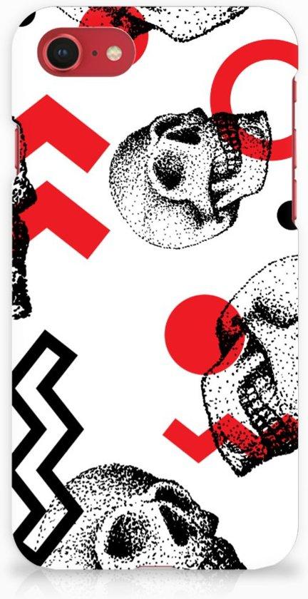 iPhone 8 | 7 Hardcase Hoesje Design Skull Red
