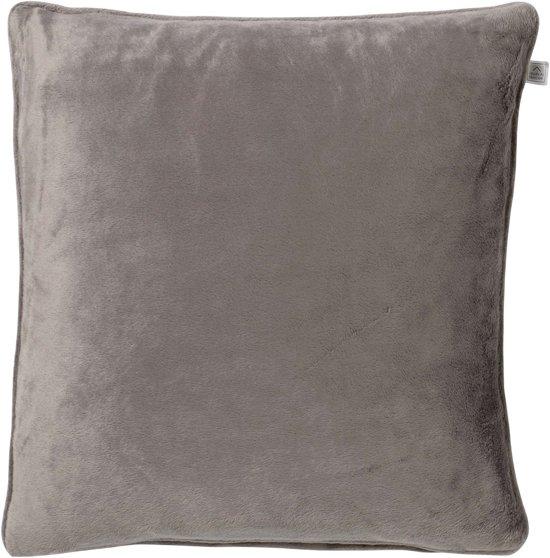 Kussenhoes Velvet 45x45 cm taupe