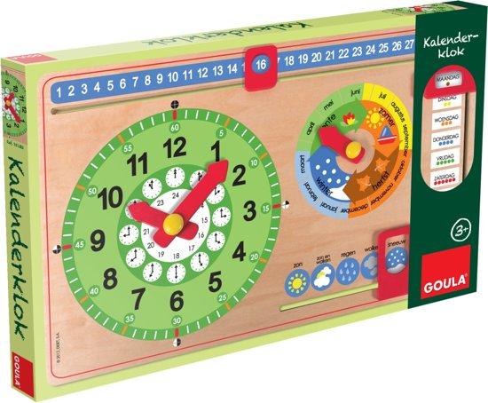 Goula Nieuwe Kalenderklok - Leerklok