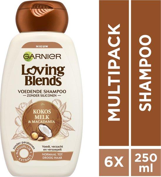 Garnier Loving Blends Kokosmelk & Macadamia Shampoo - 6 x 250 ml - Voordeelverpakking