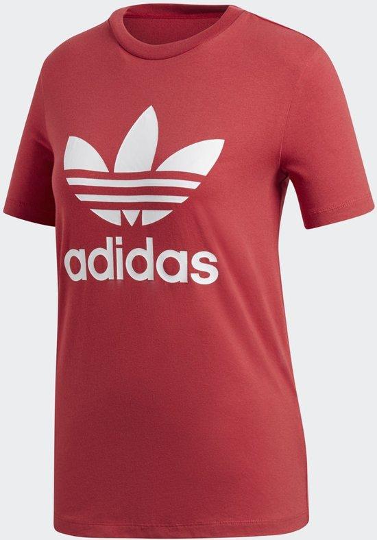 adidas Originals Trefoil Tee T Shirt Dames Real Red