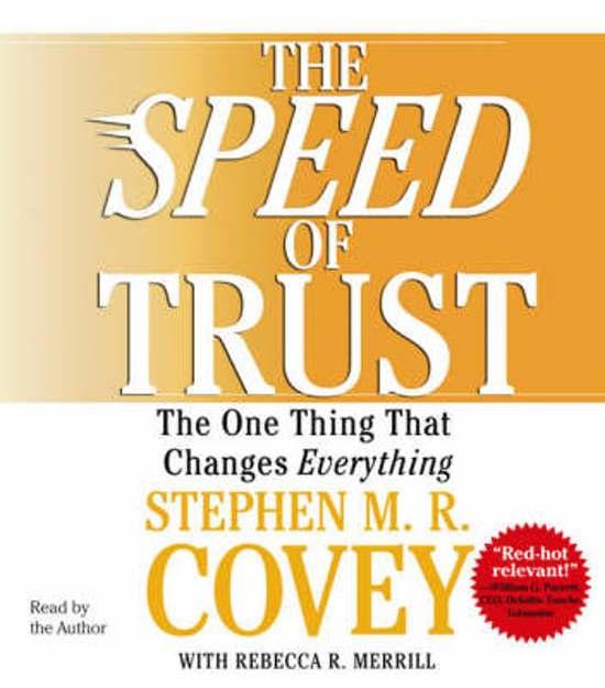 Boek cover The SPEED of Trust van Stephen Covey (Onbekend)