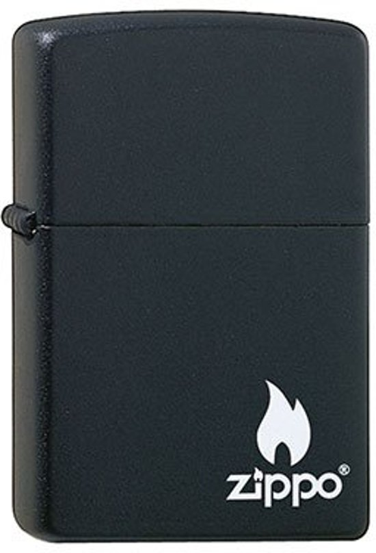 Aansteker Zippo Media Chrome Black Matte Flame