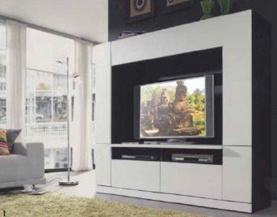 tv wand in wit hoogglans kopen laagste prijs aanbiedingen. Black Bedroom Furniture Sets. Home Design Ideas