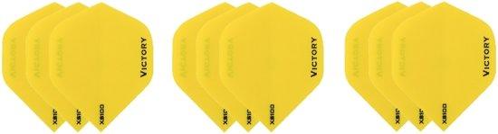 3 sets (9 stuks) Super Sterke Gele Poly XS100 - flights - dartflights