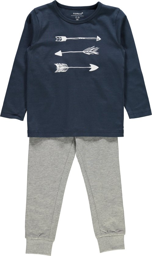 Name it Jongens Pyjamaset - Grey.M. - Maat 104