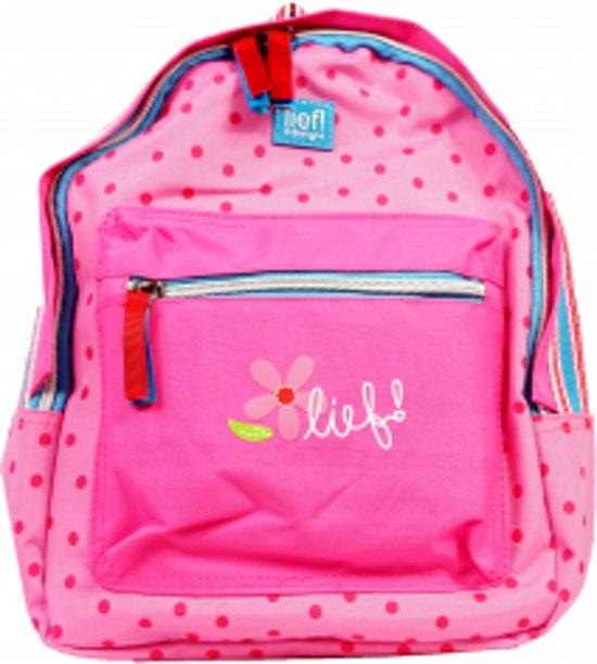 bd1597e91ac bol.com   Lief lifestyle rugtas roze met stippen