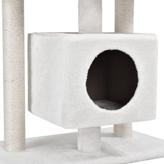 [en.casa]® Krabpaal - krabmeubels - krabspeelgoed - Wit