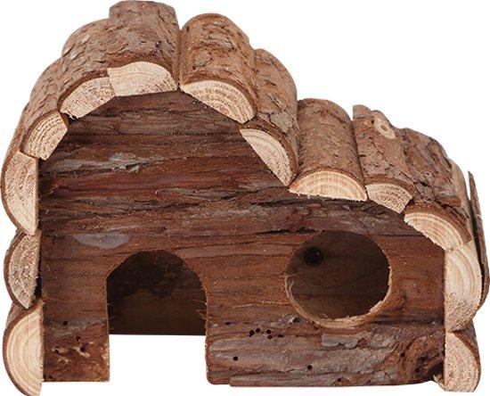 Nobleza 022199 - Houten huisje voor hamster en konijn, (L43 x B22 x H28cm)