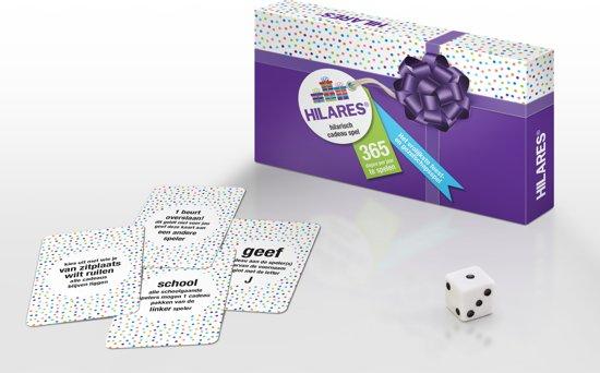 HILARES | Hilarisch Cadeau Spel (NEDERLANDS) sinterklaas - kerst - oud en nieuw - feestje - pakjes - surprise - dobbelspel - kaartspel - familiespel