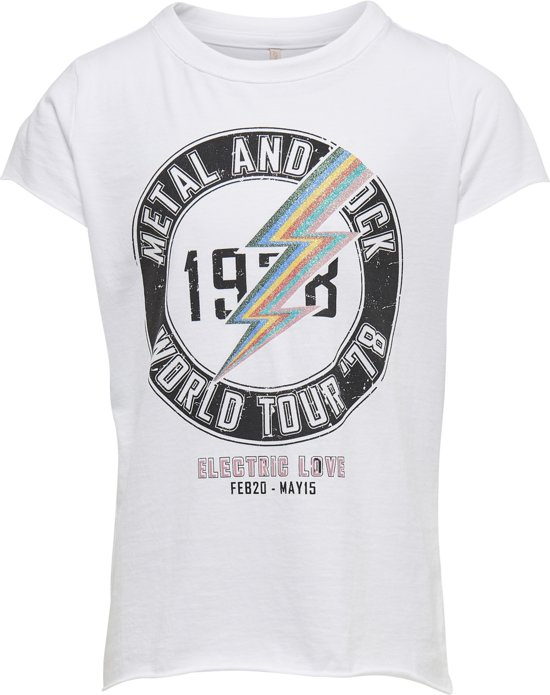 91a23b42 KIDS ONLY Meisjes T-shirt - Bright White - Maat 122/128