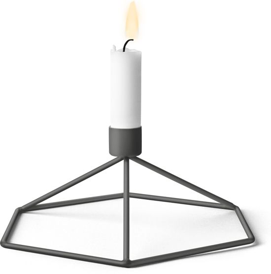 Menu POV Table kaarsenstandaard warmgrijs