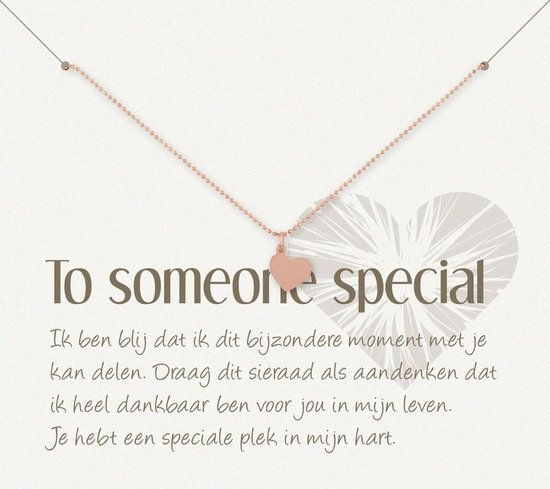 Simply Because To someone special! Armband (roségoud, bedel hartje) 18-20 cm