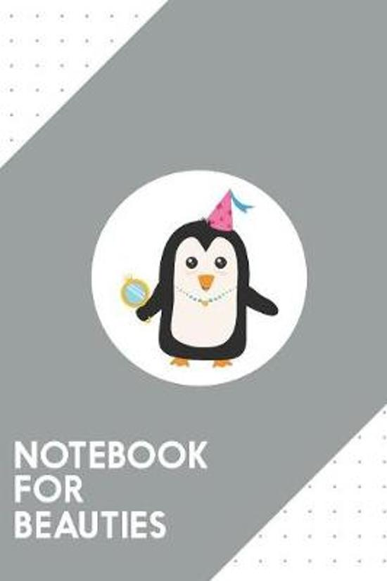 Notebook for Beauties: Dotted Journal with Cutest Penguin Princess Design - Cool Gift for a friend or family who loves young presents! - 6x9''