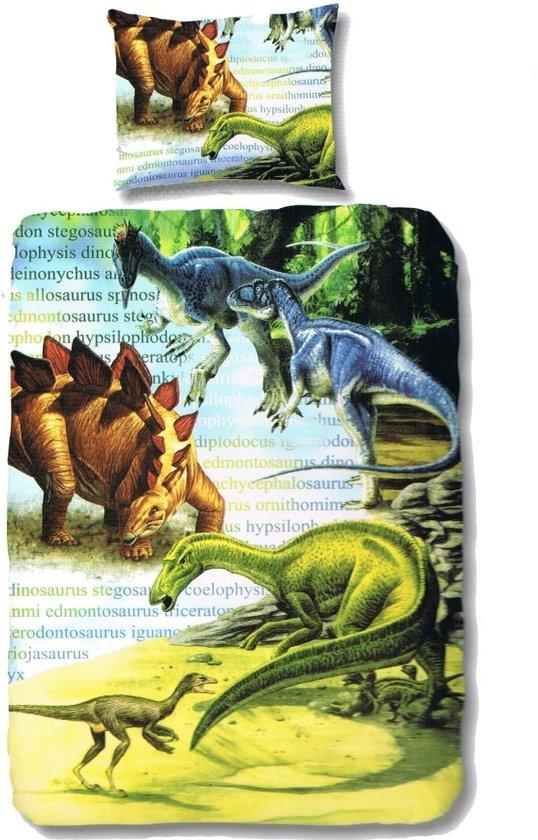 bol com   Good Morning Dekbedovertrek Dinosaurus   eenpersoons   140×200 cm