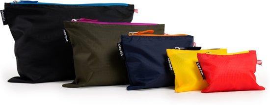 kiezels - travel organiser bags - met rits - 5 maten, 5 kleuren