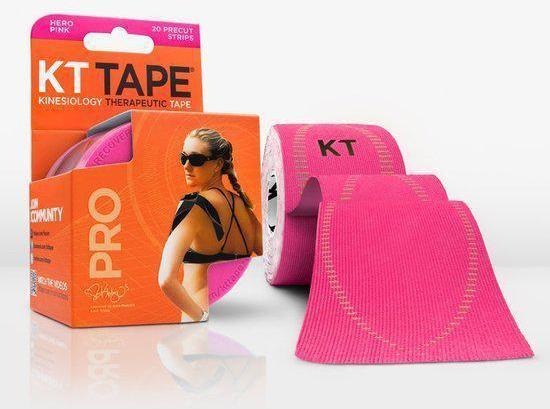 Kinesio Sporttape Kinesiotape KT Tape PRO voorgesneden 5m - Hero Pink  - Roze sporttape