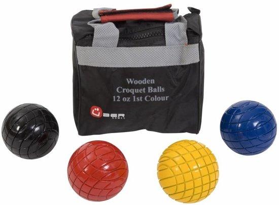 Croquet Ballen - 340 gram - 1e Kleuren - Hout