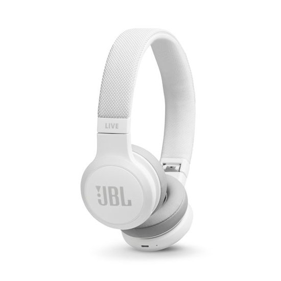 JBL Live 400BT Wit - On-ear bluetooth koptelefoon