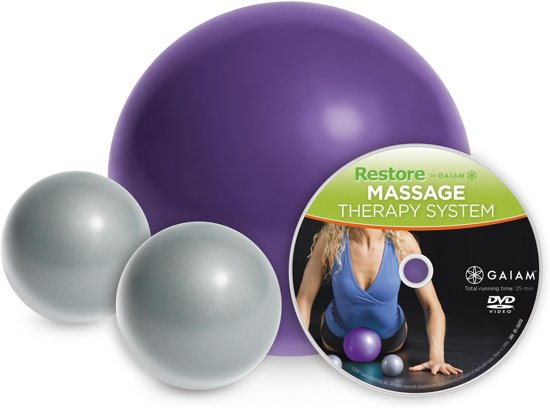 Gaiam Massage Therapy Kit - Paars / Grijs