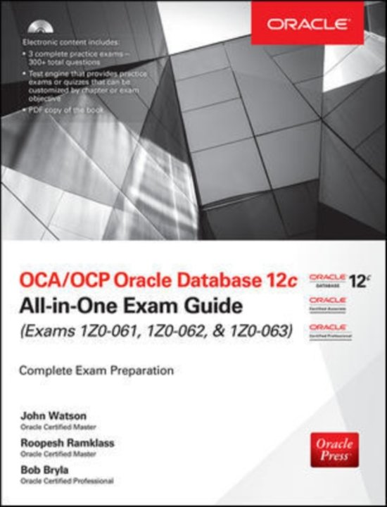 Bol Ocaocp Oracle Database 12c All In One Exam Guide Exams