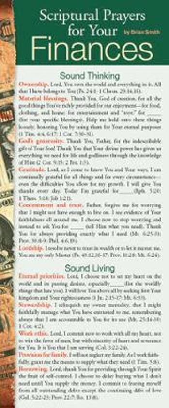 Afbeelding van het spel Scriptural Prayers for Your Finances 50-Pack