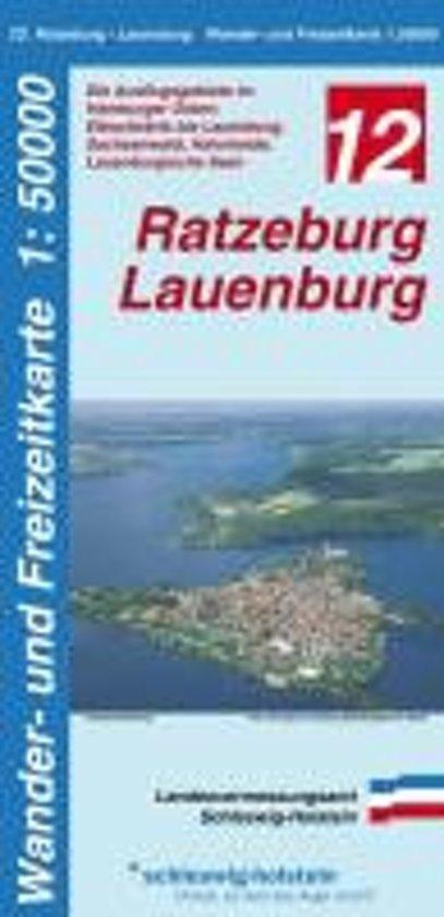 LVA SH 50 000 Wanderkarte Ratzeburg - Lauenburg