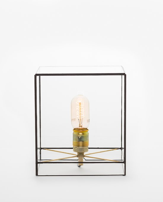 Glazen Koperen Tafellamp Lou (� 20cm) - Hart & Ruyt