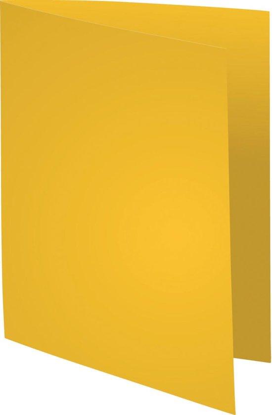 4x Exacompta Dossiermap Forever Bengali, geel, uit papier van 80 g per m², pak a 250 stuks