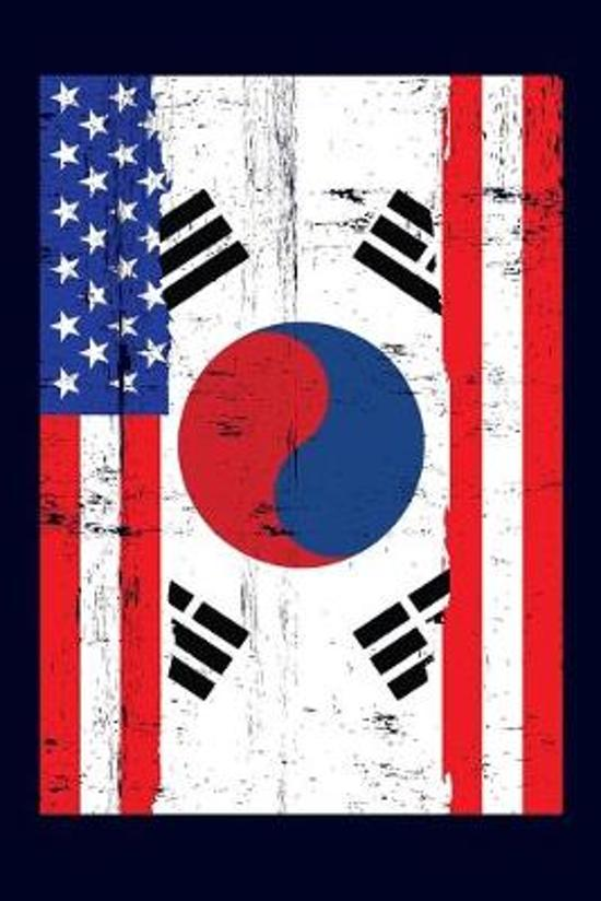 Korean American Flag Notebook: 6x9 college lined notebook to write in with the flags of South Korea and the United States