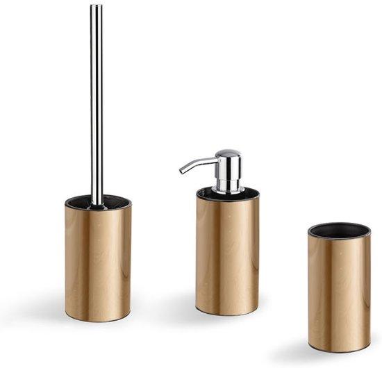 rvs badkamer accessoires set copper look