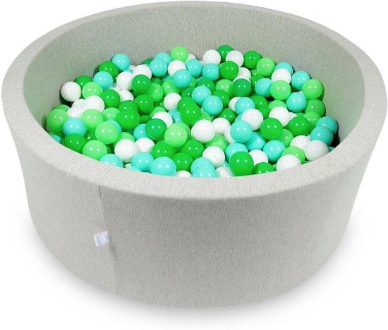Ballenbak - 500 ballen - 115 x 40 cm - ballenbad - rond licht grijs