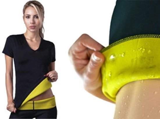 Beste bol.com | Saunafit thermisch afslank shirt - maat M/L - op een IG-34