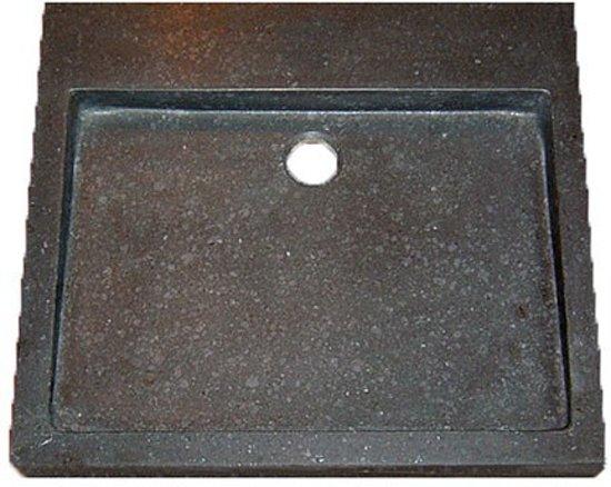 Wastafel Opbouw Rechthoek : Bol wastafel opbouw lot rechthoek cm limestone blue