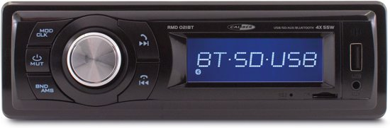 CALIBER RMD021BT - 1DIN autoradio 4x55Watt FM USB Aux met vast frontpaneel en Bluetooth