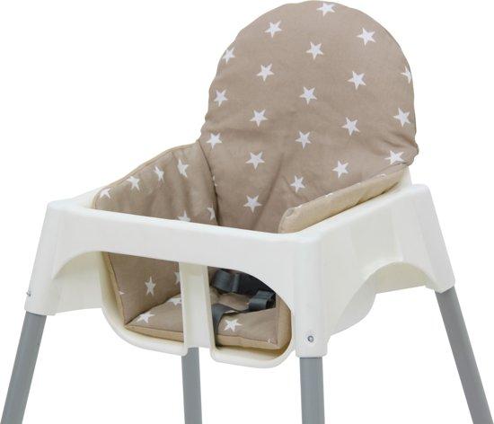 Bedwelming bol.com | Polini Kussen voor IKEA Antilop Kinderstoel Beige Sterren &DA69
