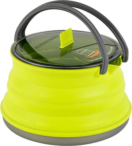 Sea to Summit X-Pot Kettle 1.3 - Campingketel inklapbaar - Ketel - Lime - Large