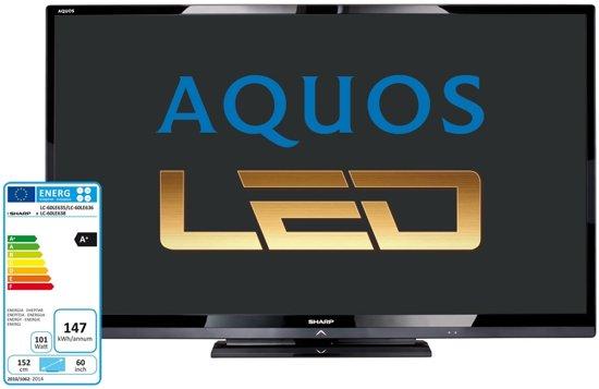 """Sharp LC-60LE635E 60"""" Full HD Wi-Fi Zwart LED TV"""