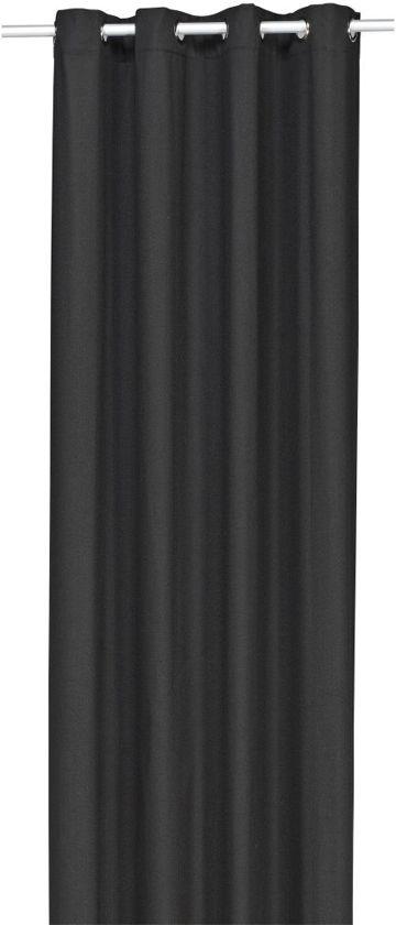 woonexpress panama kant en klaargordijn zwart 140x300 cm per stuk