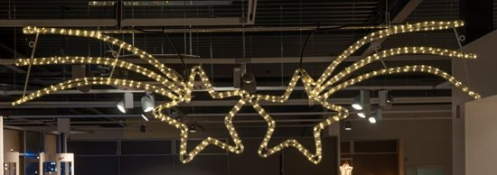 Kerst ster straatverlichting - lichtslang - 150x25cm - warm wit LED Valentinaa